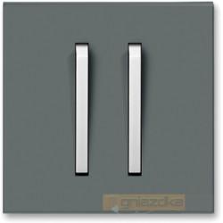 Łącznik podwójny świecznikowy grafitowy / lodowo biały NEO ABB