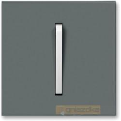 Przycisk zwierny grafitowy / lodowo biały NEO ABB