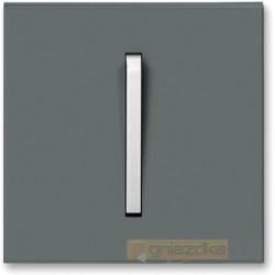 Łącznik pojedynczy schodowy grafitowy / lodowo biały NEO ABB