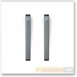 Łącznik podwójny schodowy biały / lodowo szary NEO ABB