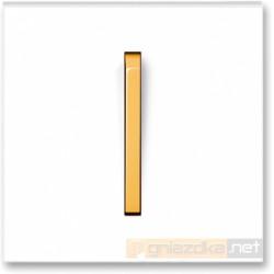 Łącznik pojedynczy krzyżowy biały / lodowo pomarańczowy NEO ABB