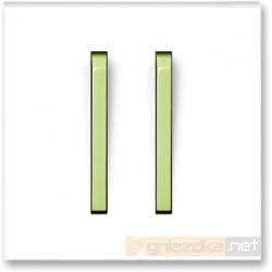 Łącznik podwójny świecznikowy biały / lodowo zielony NEO ABB