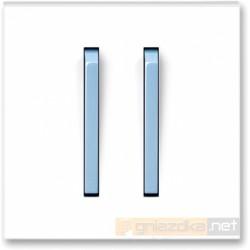 Łącznik podwójny świecznikowy biały / lodowo niebieski NEO ABB
