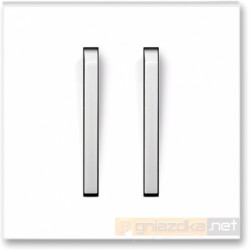 Łącznik podwójny schodowy biały / lodowo biały NEO ABB