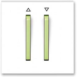 Przycisk żaluzjowy zwierny biały / lodowo zielony NEO ABB