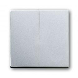 Łącznik podwójny schodowy aluminiowo srebrny Future ABB