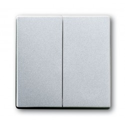 Przycisk zwierny podwójny aluminiowo srebrny Future ABB
