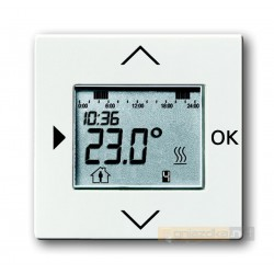Regulator temperatury programowalny biały studyjny Carat,Solo,Axcent,Future ABB