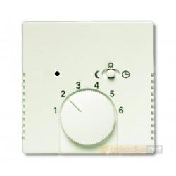 Regulator temperatury z lampką i przełącznikiem biały chalet Axcent ABB