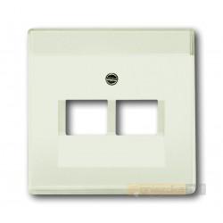 Gniazdo komputerowe podwójne RJ45 kat.5e biały chalet Axcent ABB