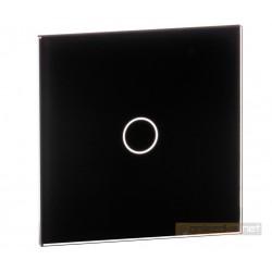 Panel dotykowy szklany czarny pojedynczy Livolo