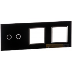 Panel dotykowy szklany czarny 3-krotny 2+0+0 Livolo