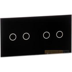 Panel dotykowy szklany czarny 2-krotny 2+2 Livolo