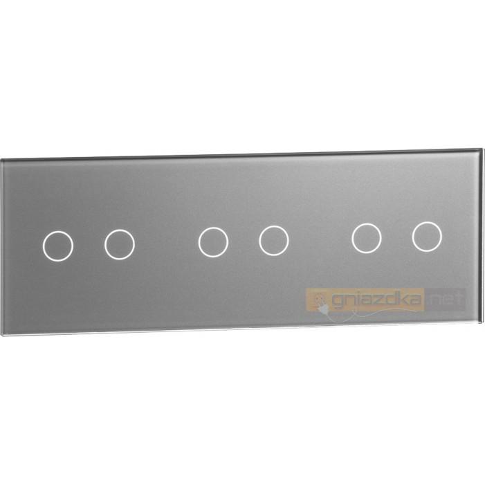 Panel dotykowy szklany srebrny 3-krotny 2+2+2 Livolo