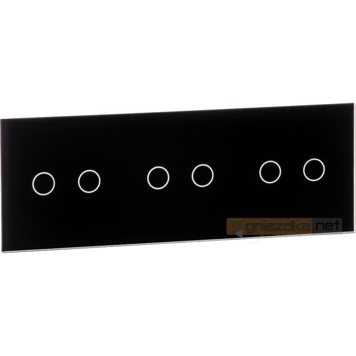 Panel dotykowy szklany czarny 3-krotny 2+2+2 Livolo