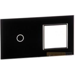 Panel dotykowy szklany czarny 2-krotny 1+0 Livolo
