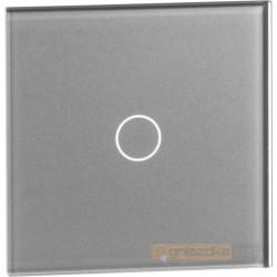 Panel dotykowy szklany srebrny pojedynczy Livolo