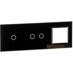 Panel dotykowy szklanyczarny 3-krotny 1+2+0 Livolo