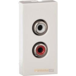 Gniazdo audio 2xRCA moduł 1/2 Livolo