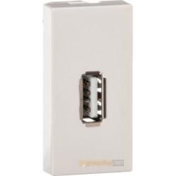 Gniazdo USB białe moduł 1/2 Livolo