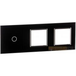 Panel dotykowy szklany czarny 3-krotny 1+0+0 Livolo