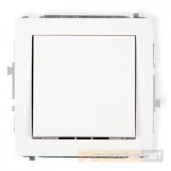 Łącznik zwierny jednobiegunowy biały Karlik Deco