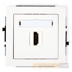 Gniazdo pojedyncze HDMI biały Karlik Deco
