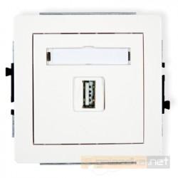 Gniazdo USB-AA pojedyncze biały Karlik Deco