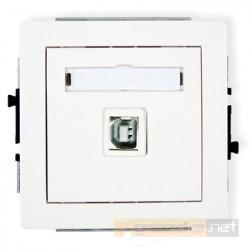 Gniazdo USB-AB pojedyncze biały Karlik Deco