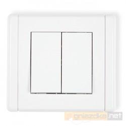 Łącznik podwójny świecznikowy biały Karlik Flexi