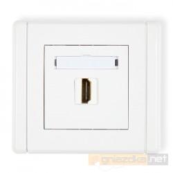 Gniazdo pojedyncze HDMI biały Karlik Flexi