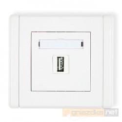Gniazdo pojedyncze USB-AA biały Karlik Flexi