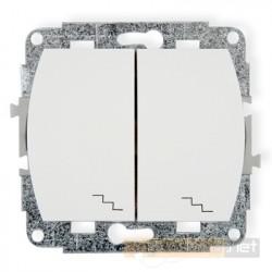 Łącznik podwójny schodowy biały Karlik Trend