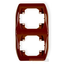 Ramka pionowa podwójna brązowy Karlik Trend