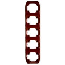 Ramka pionowa pięciokrotna brązowy Karlik Trend