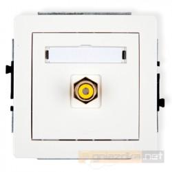 Gniazdo pojedyncze RCA (chinch) biały Karlik Deco