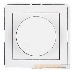 Ściemniacz przyciskowo-obrotowy biały Karlik Deco