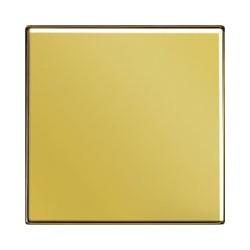 Włącznik pojedynczy krzyżowy, złoty, JUNG LS Złoto 24 karaty