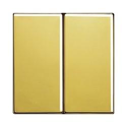 Włącznik podwójny (seryjny) schodowy, złoty, JUNG LS Złoto 24 karaty
