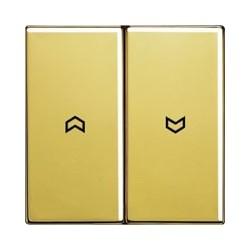 Włącznik roletowy przyciskowy, złoty, JUNG LS Złoto 24 karaty