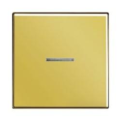 Włącznik pojedynczy z podświetleniem, złoty JUNG LS Złoto 24 karaty