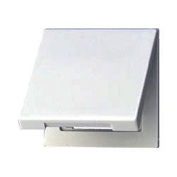 Gniazdo z uziemieniem i klapką (IP44), szare LS990 JUNG LS