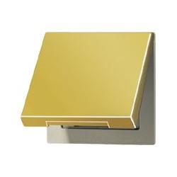 Gniazdo z uziemieniem i klapką (IP44), LS złoto 24-karaty JUNG LS