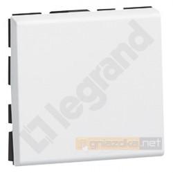 Przycisk pojedynczy jednobiegunowy biały Legrand Mosaic