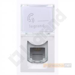 Gniazdo telefoniczne RJ11 M45 biały Legrand Mosaic