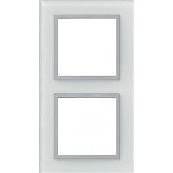 Ramka 2-krotna, szklana, kolor, aluminium, EFAPEL LOGUS 90