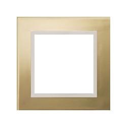 Ramka 1-krotna, metal, kolor, złoty/perłowy, EFAPEL LOGUS 90
