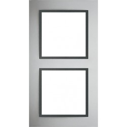 Ramka 2-krotna, metal, kolor, aluminium/grafit , EFAPEL LOGUS 90