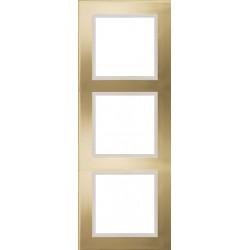 Ramka 3-krotna, metal, kolor, złoty/perłowy, EFAPEL LOGUS 90