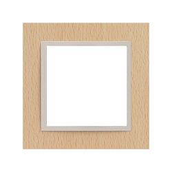Ramka 1-krotna, drewniana, kolor, buk/perłowy EFAPEL LOGUS 90